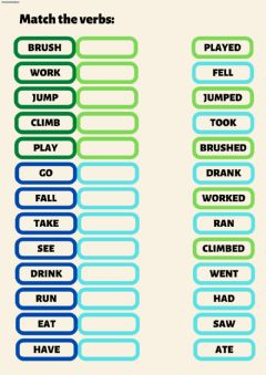 Interactive worksheet Past tense (regular and irregular verbs)