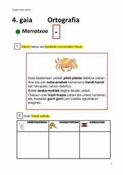 Interactive worksheet Hiz elkartuak