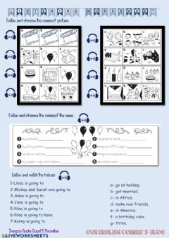 Interactive worksheet Plans listening