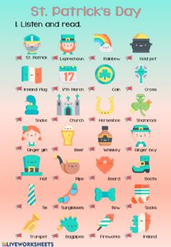 Ficha interactiva St. Patrick's Day Vocabulary