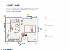 Interactive worksheet Planos y escalas