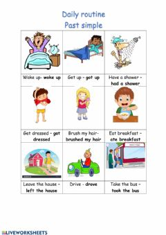 Interactive worksheet Past Simple Routine