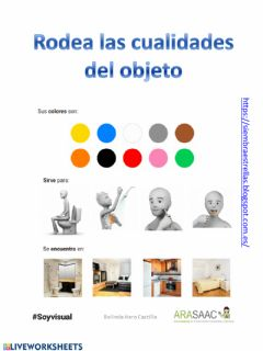 Interactive worksheet Descripciones de objetos