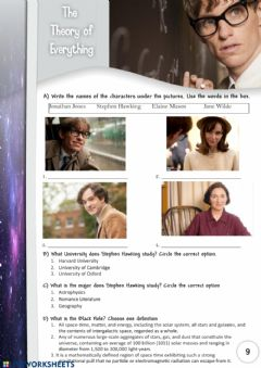 Ficha interactiva The Theory of Everything