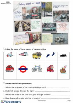 Interactive worksheet Transports in London