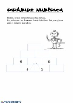 Interactive worksheet Piràmide de sumes