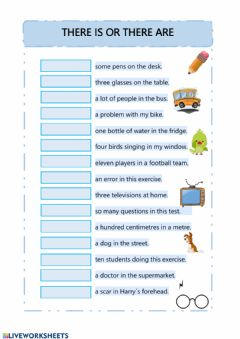 Interactive worksheet There is or there are
