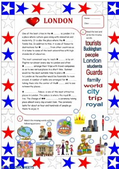 Interactive worksheet London landmarks- Reading Comprehension