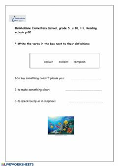 Interactive worksheet Vocabulary four