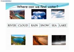 Interactive worksheet Where can we find water?
