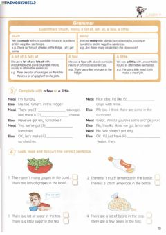 Interactive worksheet Quantifiers: some, any, much, many, a few, a little