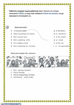 Interactive worksheet They are reading
