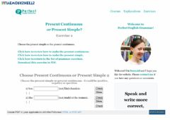 Interactive worksheet Present Simple or Present Continuous Exercise 2