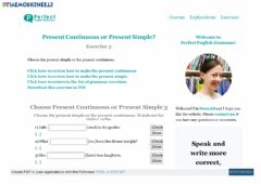 Interactive worksheet Present Simple or Present Continuous Exercise 3
