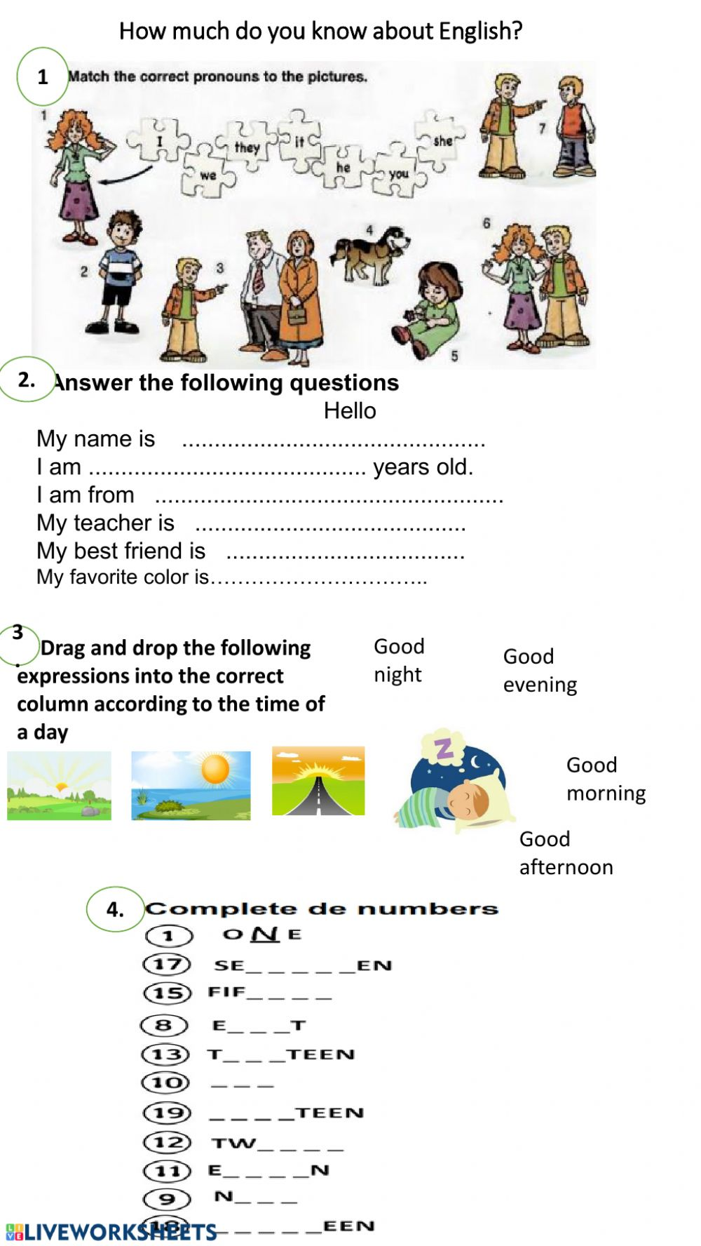 - How Much Do You Know About English? - Interactive Worksheet