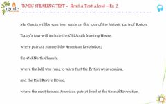 Interactive worksheet Toeic speaking - Read a text aloud