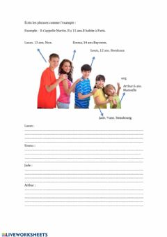 Interactive worksheet Presentar personas