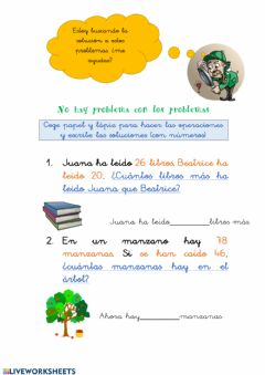 Interactive worksheet Resolución de problemas