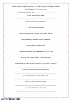 Interactive worksheet Passive voice practice