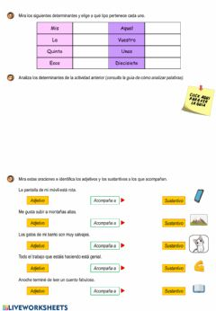 Interactive worksheet Tipos de palabras