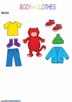 Interactive worksheet Clothes cookie and friends