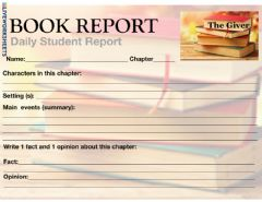 Interactive worksheet Book Report