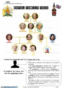 Interactive worksheet Royal family