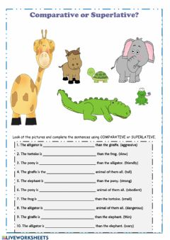 Ficha interactiva Comparatives & superlatives