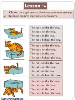 Interactive worksheet Lesson 16