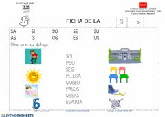 Interactive worksheet Lectura letra S