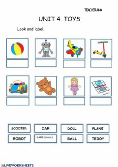 Interactive worksheet UNIT 4. TOYS