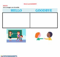 Interactive worksheet Hello and goodbye