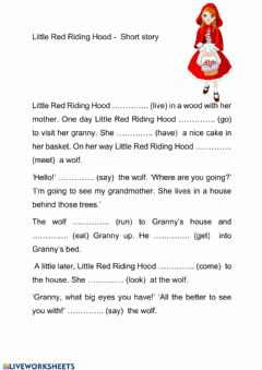 Interactive worksheet Little Red Riding Hood