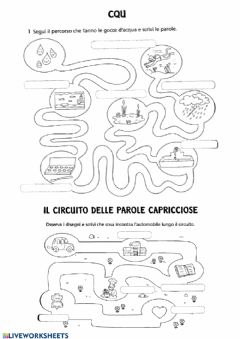 Interactive worksheet CQ E PAROLE CAPRICCIOSE