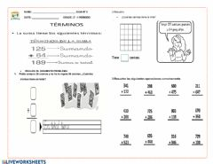 Interactive worksheet La adición