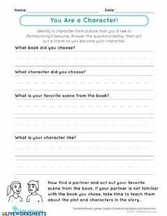 Interactive worksheet Book interview