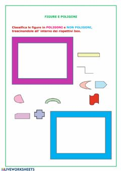 Interactive worksheet Figure e poligoni