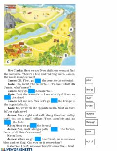 Interactive worksheet Giving and asking for directions