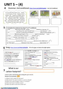 Interactive worksheet Unit 5 - 4