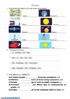 Interactive worksheet FF4 Unit 7 Space-Will