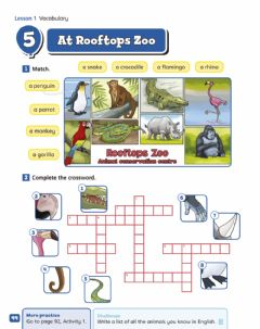 Ficha interactiva Unit 5 - At the zoo - VOCABULARY