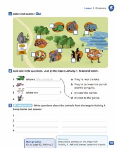 Interactive worksheet Unit 5 - At the zoo - LISTENING & GRAMMAR