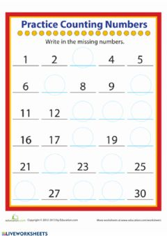 Interactive worksheet Counting & Adding