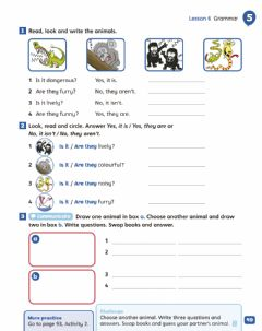 Interactive worksheet Unit 5 - At the zoo - GRAMMAR