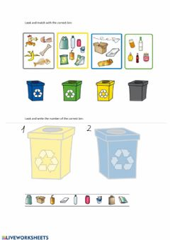 Interactive worksheet Recycle