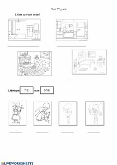 Interactive worksheet She-he