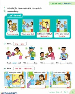 Interactive worksheet My, Your