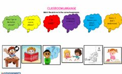Interactive worksheet Classroom Language Expressions