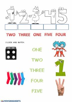 Interactive worksheet Number to 5