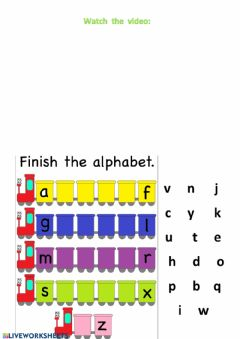 Interactive worksheet The ABC